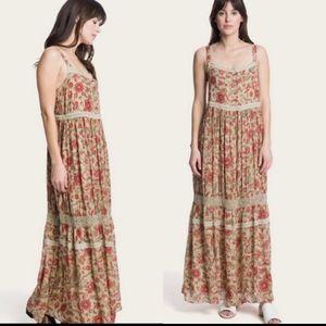 FRYE Dessert Bloom Boho Crochet Maxi Dress